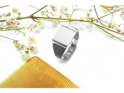 Prsteň VZOR 41 z bieleho zlata