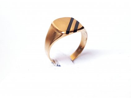 Pánsky prsteň zo žltého zlata  +doživotný servis + krabička