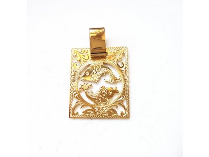 Zlatý prívesok znamenie RYBY žltý  +servis + krabička