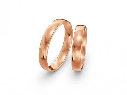 Svadobné obrúčky 4,00mm z ružového zlata