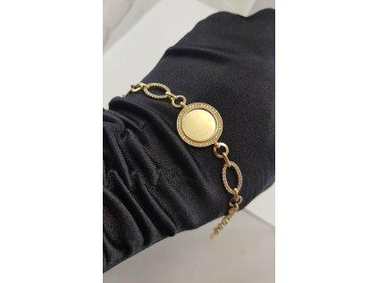 Dámsky náramok zo žltého zlata s prvkami INFINITY a prekrásnymi zirkónmi  +doživotný servis + krabička, darček