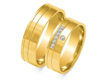 Obrúčky OE-217 žlté zlato