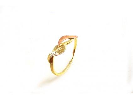 Prsteň VZOR 2 z ružovo-žltého zlata