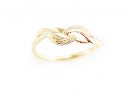 Dámsky prsteň VZOR 2 z kombinovaného červeno-žltého zlata  +doživotný servis + krabička