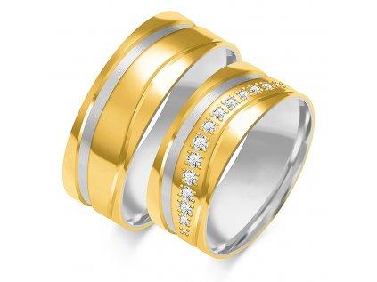2312af376 Svadobné obrúčky vo farebnej kombinácií bielo-žltého zlata