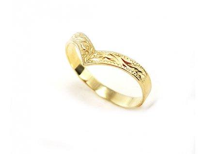 b952f33cd Elegantný dámsky prsteň VZOR1 zo žltého zlata +doživotný servis + krabička