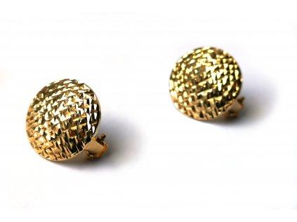 Extravaganté náušnice zo žltého zlata  +doživotný servis + krabička
