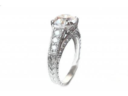 Prekrásny zásnubný prsteň VZOR 264 z bieleho zlata  +servis + krabička