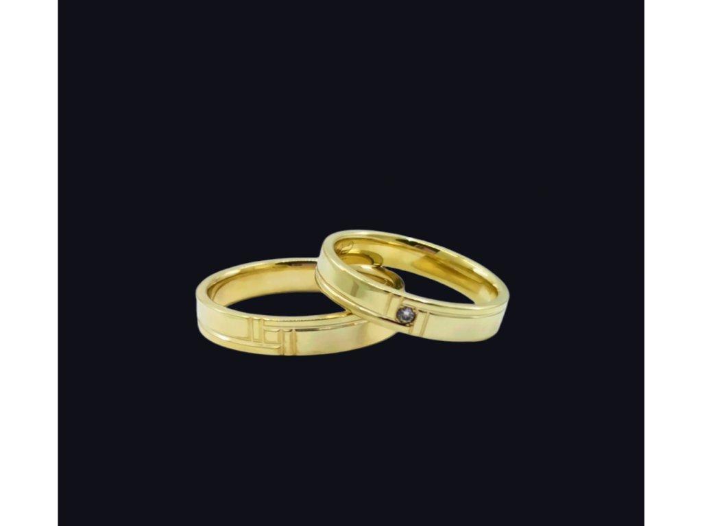 Svadobné obrúčky Venice v žltom zlate