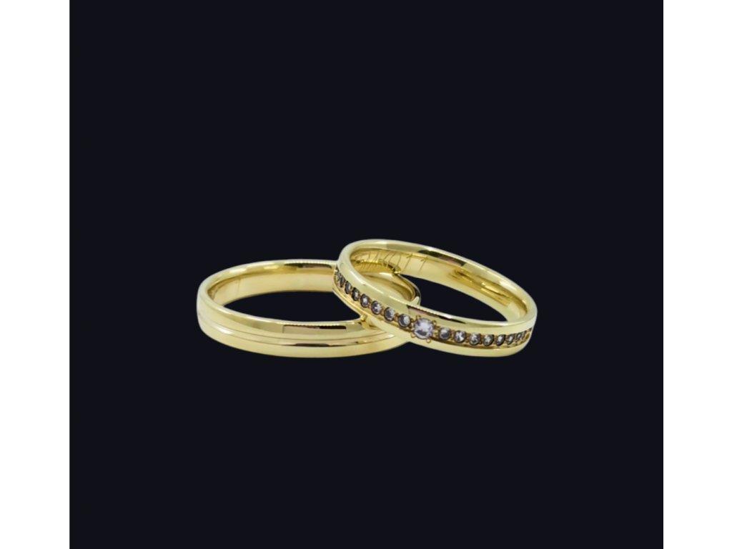 Svadobné obrúčky Omnia v žltom zlate