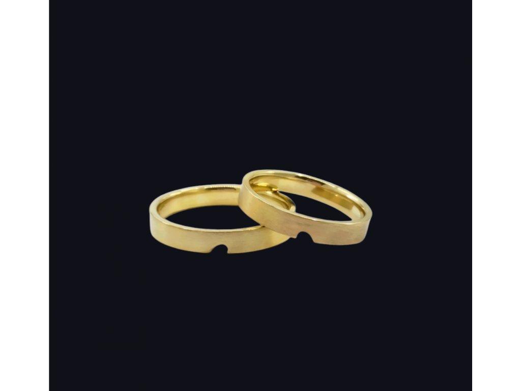 Svadobné obrúčky Gio v žltom zlate