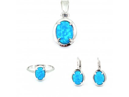Zlatá súprava s modrým opálom Azur