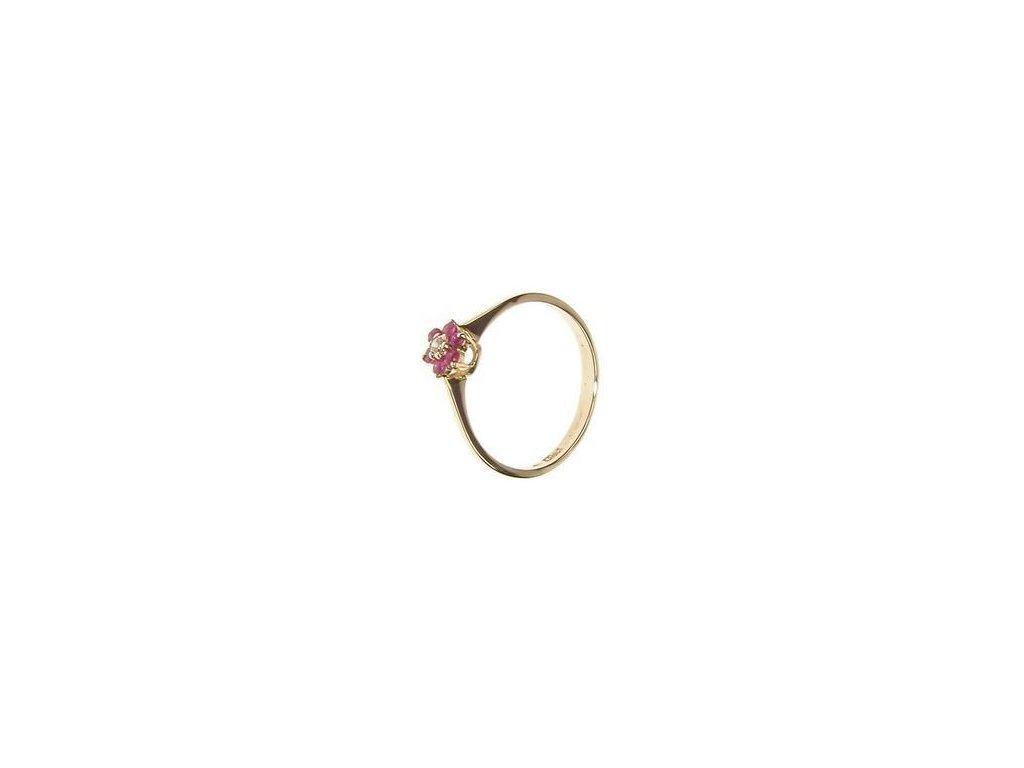 Prsten zlatý s syntetickými kamínky 1/28398