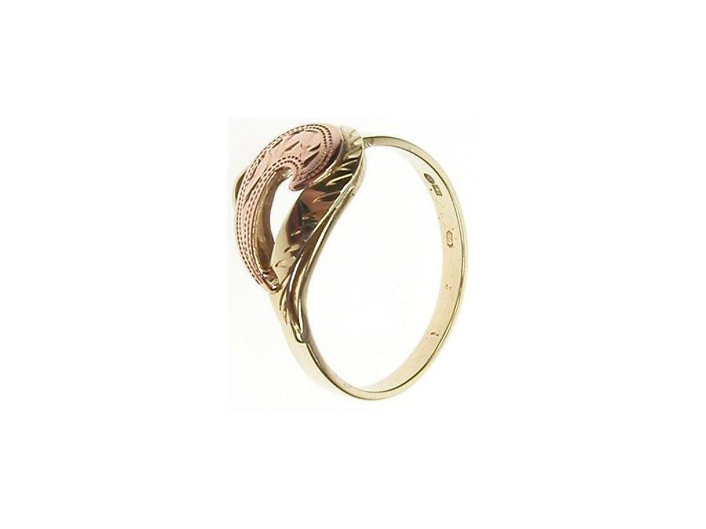 Prsten ze žlutého a červeného zlata 1/22359