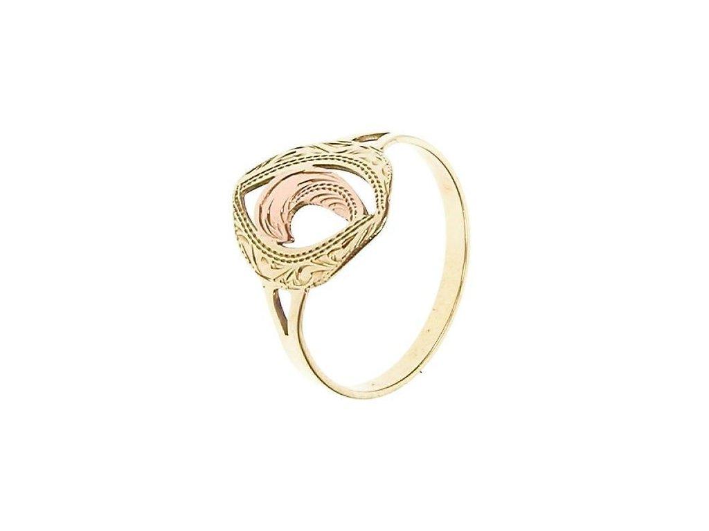 Prsten ze žlutého a červeného zlata 1/19907