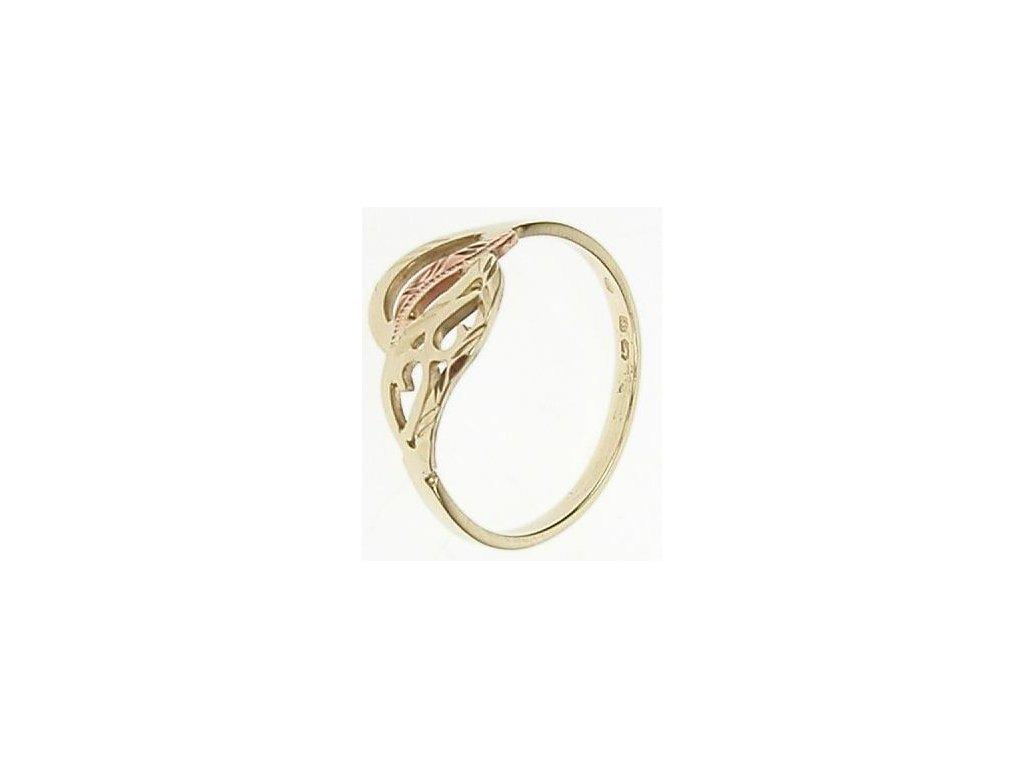 Prsten ze žlutého a červeného zlata 13/53560