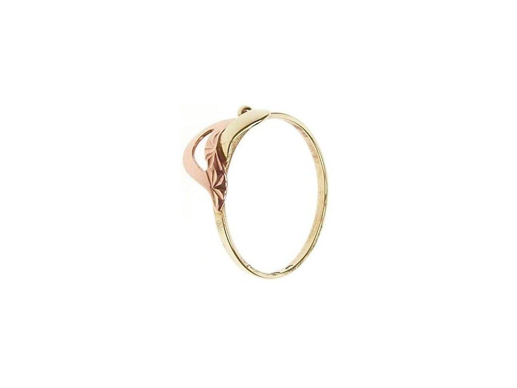 Prsten ze žlutého a červeného zlata 1/21678