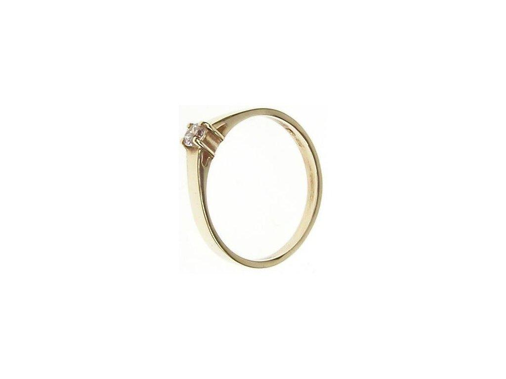 Prsten zlatý se zirkonem 13/53533