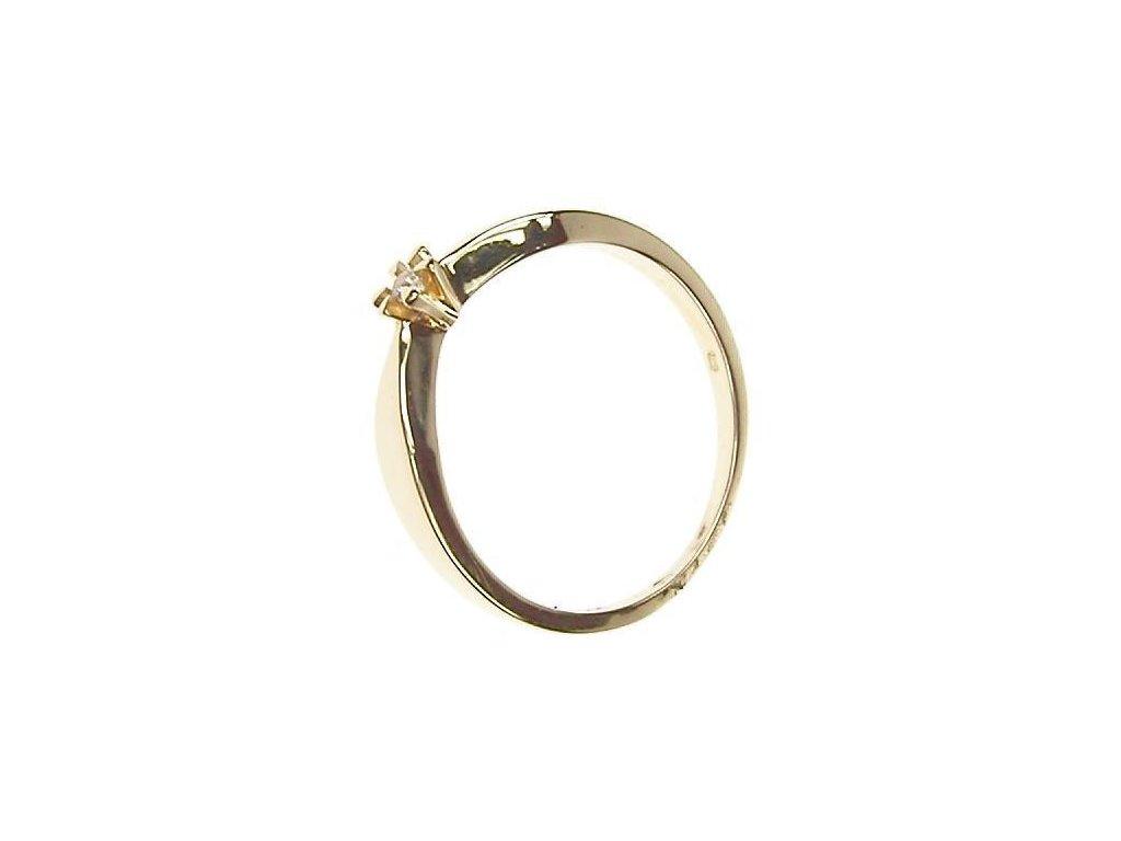 Prsten zlatý se zirkonem 13/51521