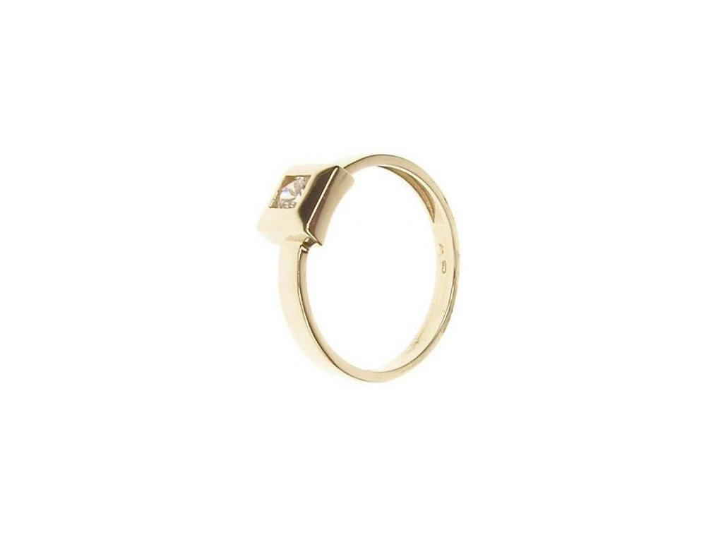 Prsten zlatý se zirkonem 13/52930