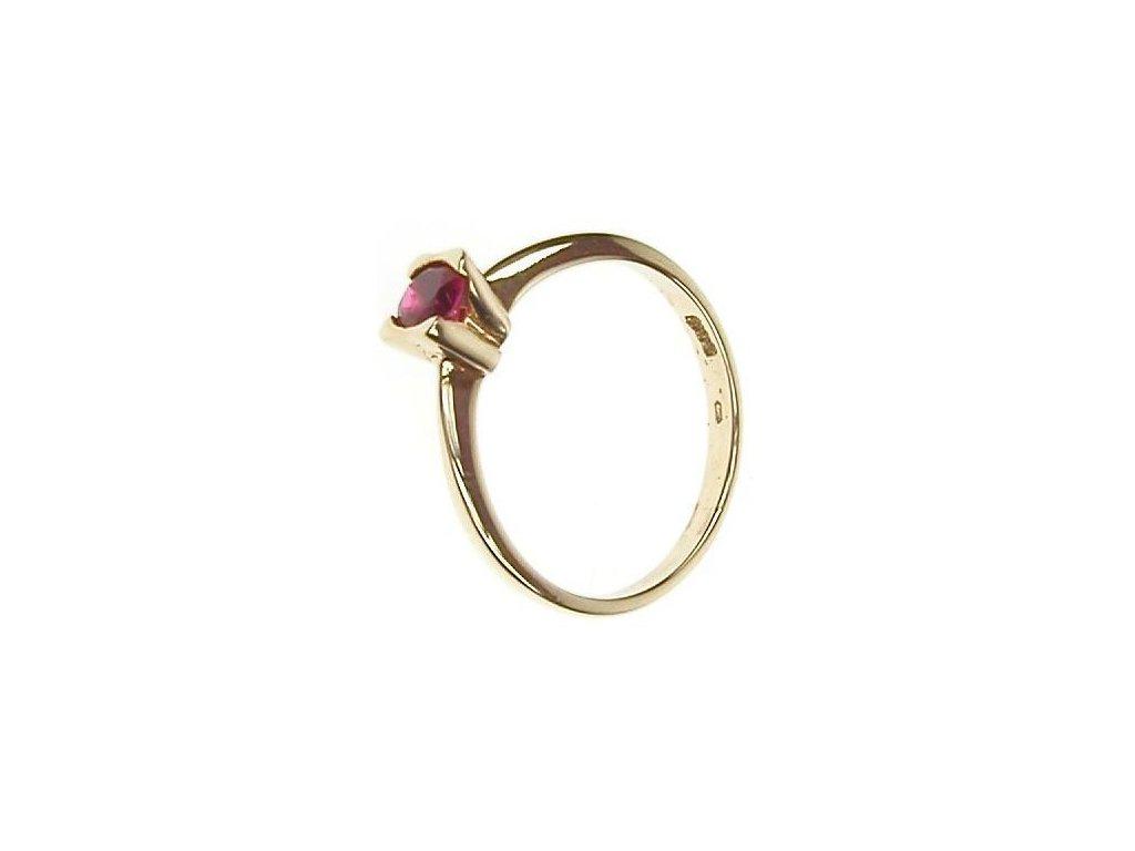 Prsten zlatý se syntetickým rubínem 1/29548
