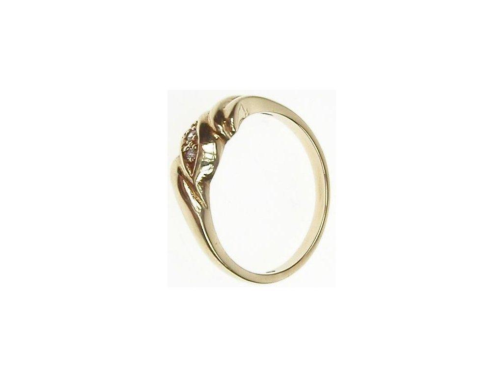 Prsten zlatý s bílými kamínky 1/20872