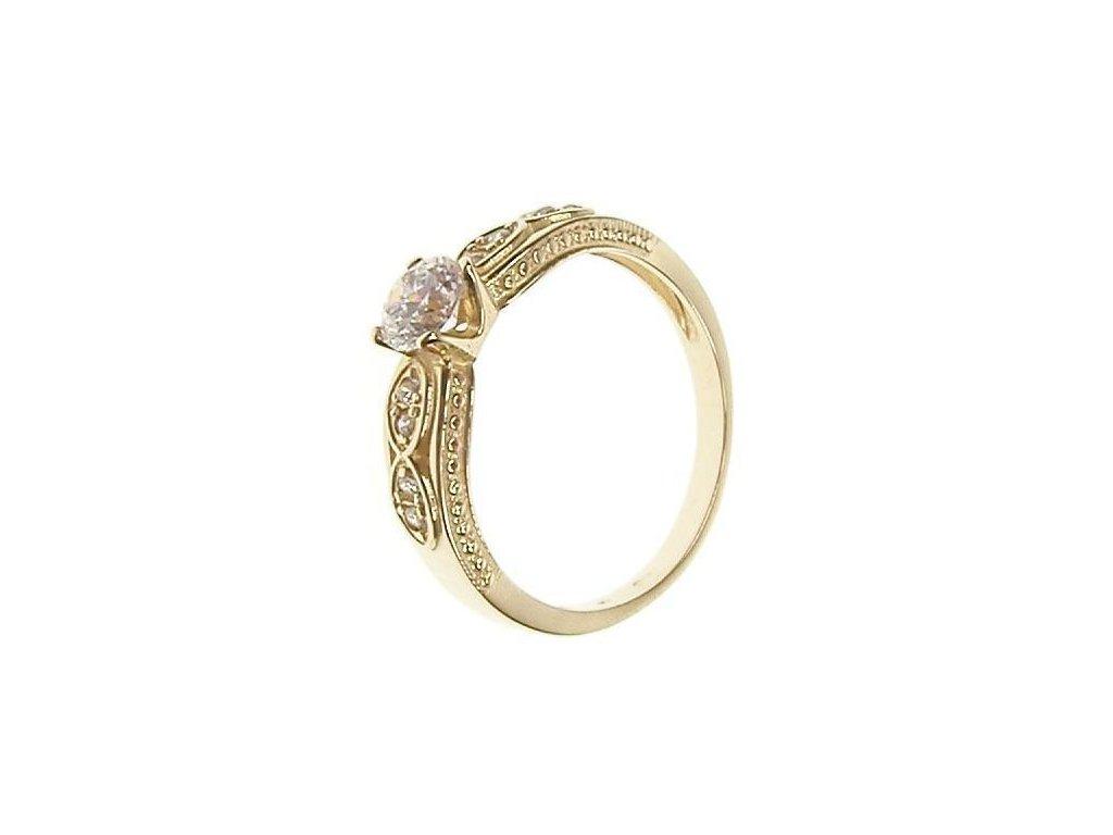 Prsten zlatý se zirkony 13/52564