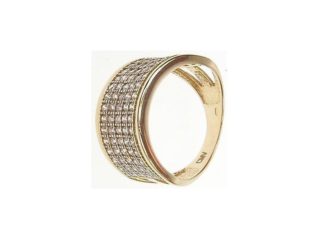Prsten zlatý se zirkony 13/54294