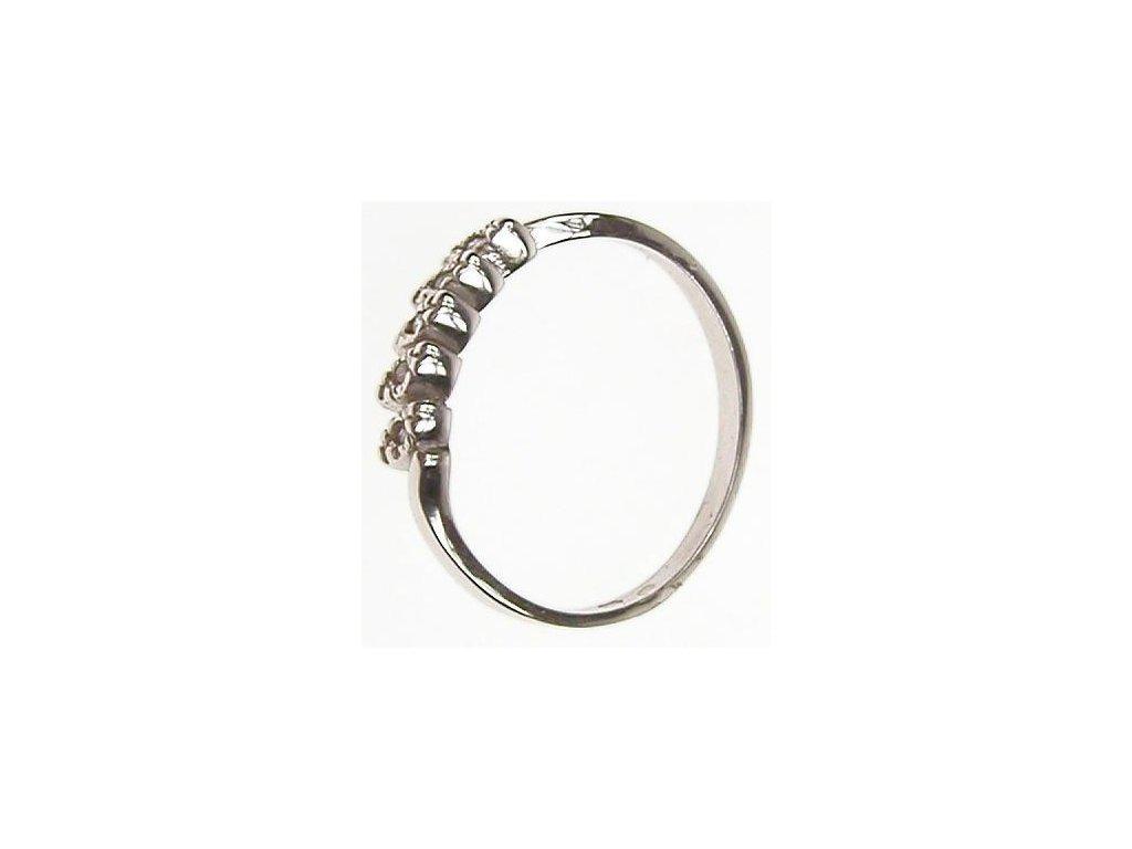 Prsten z bílého zlata s bílými kamínky 13/45227