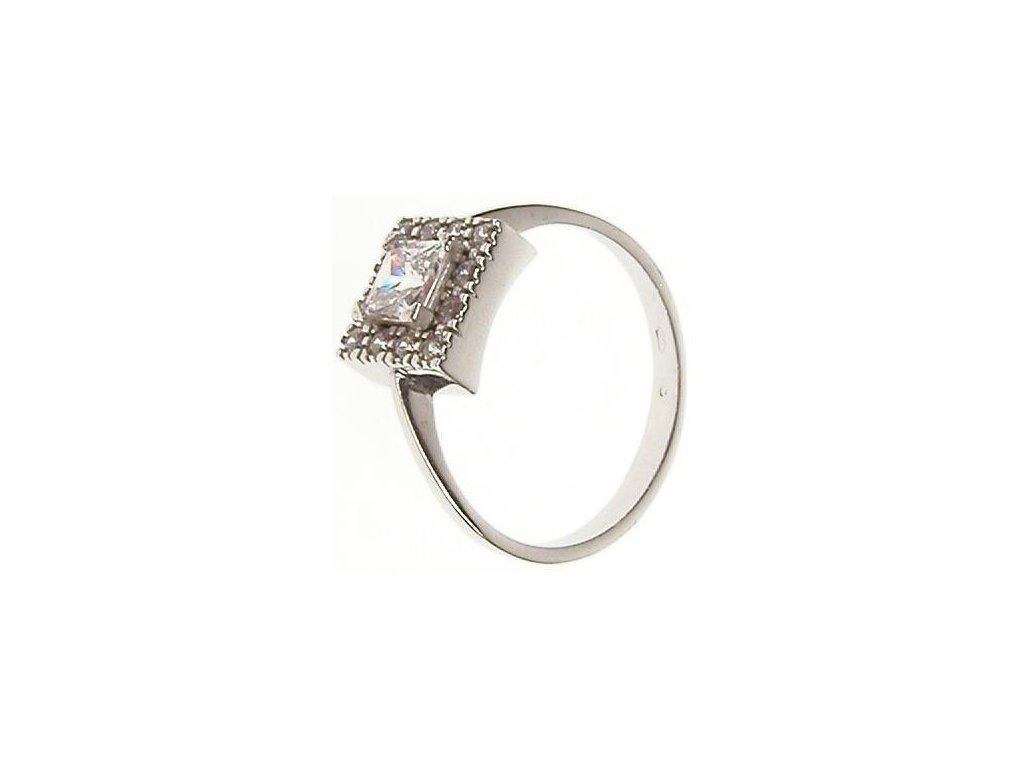 Prsten z bílého zlata se zirkony 43/95332