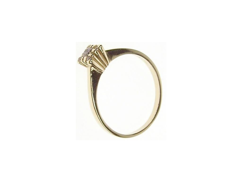 Prsten zlatý se zirkonem 13/58917