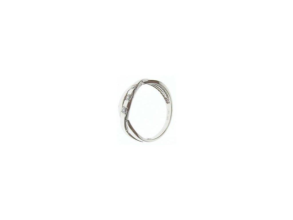 Prsten z bílého zlata se zirkony 13/45229