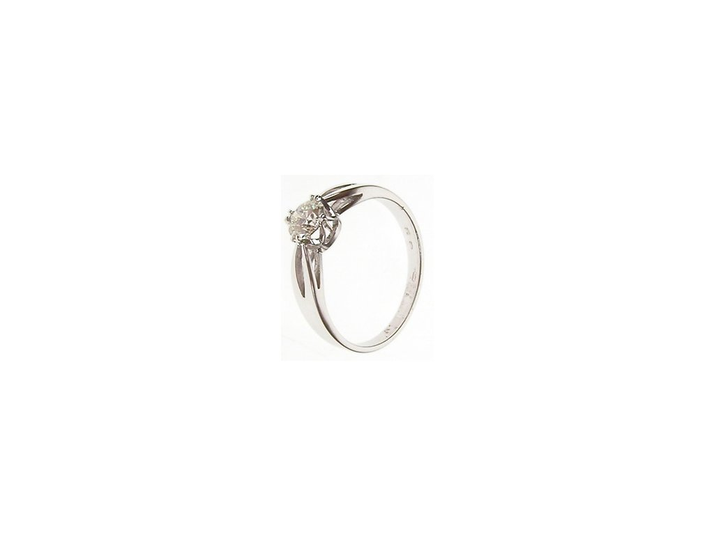 Prsten z bílého zlata s diamantem 1/32744