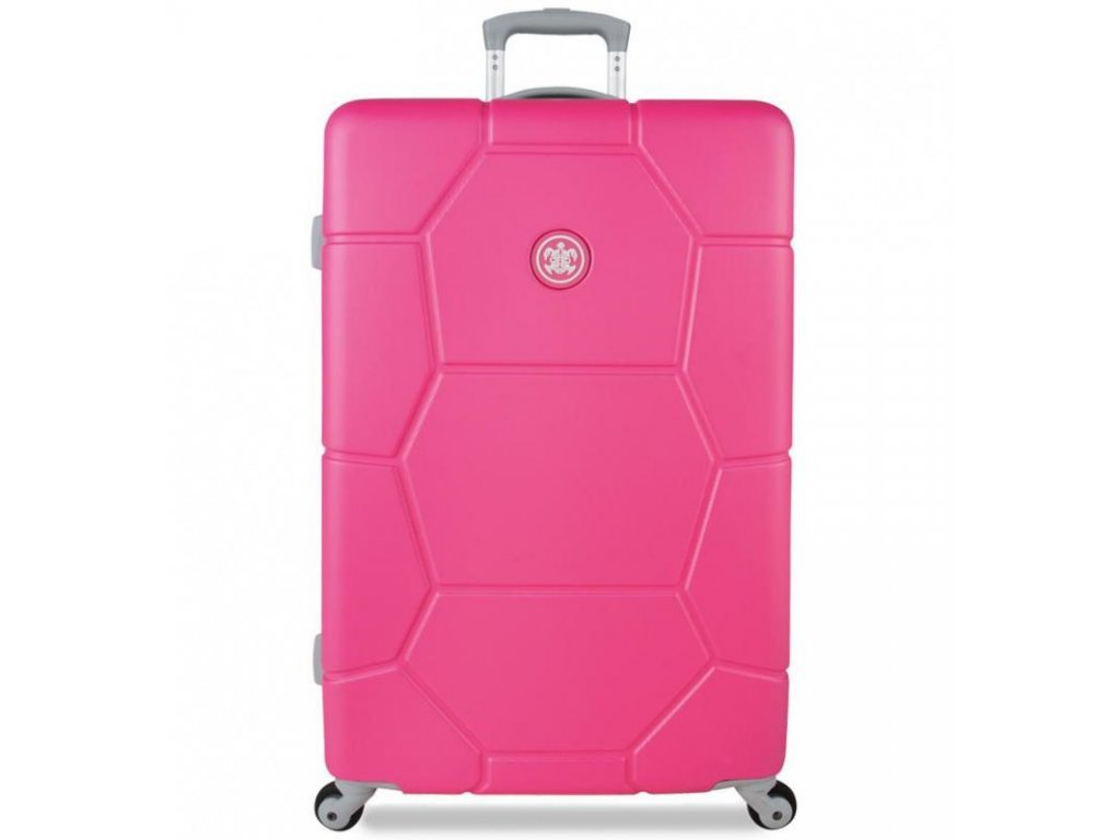 Cestovní kufr SUITSUIT® TR-1227/3-L ABS Caretta Shocking Pink