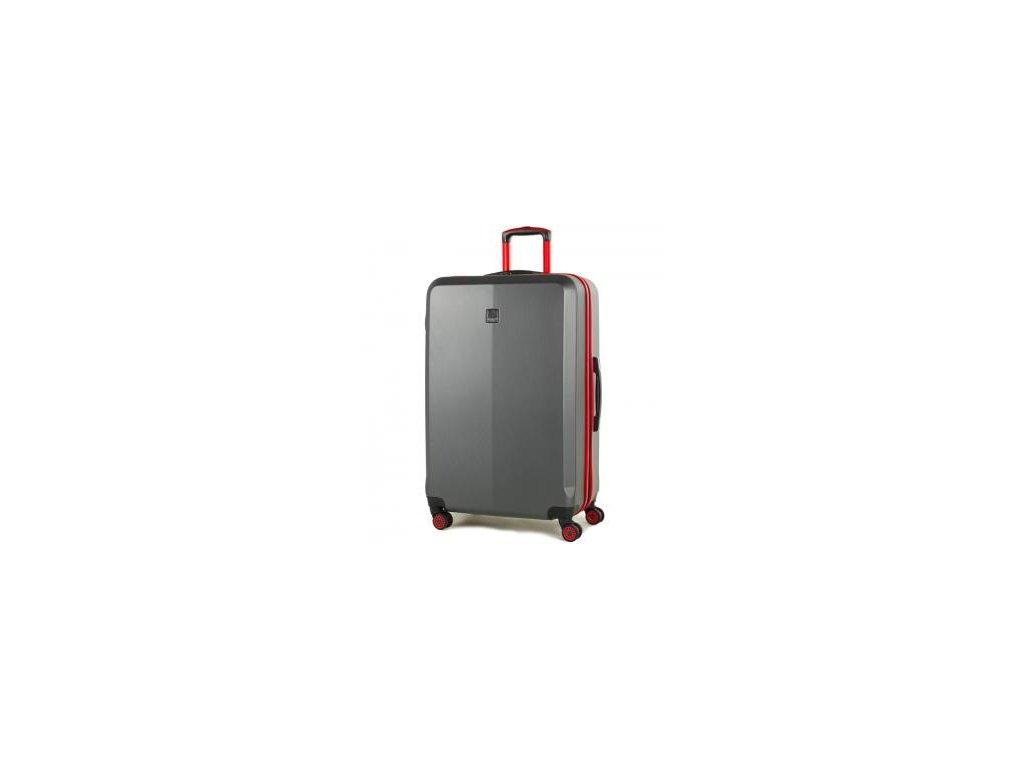 Cestovní kufr MEMBER'S TR-0150/3-L ABS - šedá/červená