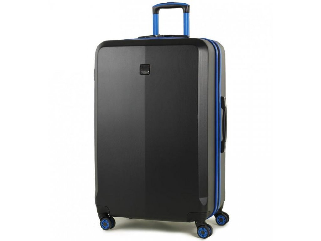 Cestovní kufr MEMBER'S TR-0150/3-L ABS - černá/modrá