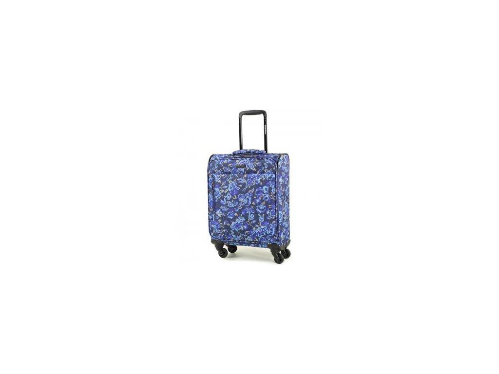 Kabinové zavazadlo MEMBER'S TR-0131/3-S - modrá/Flowers