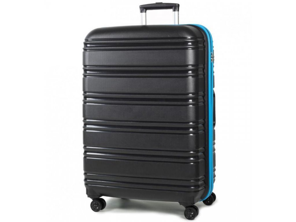 Cestovní kufr ROCK TR-0164/3-L PP - černá/modrá