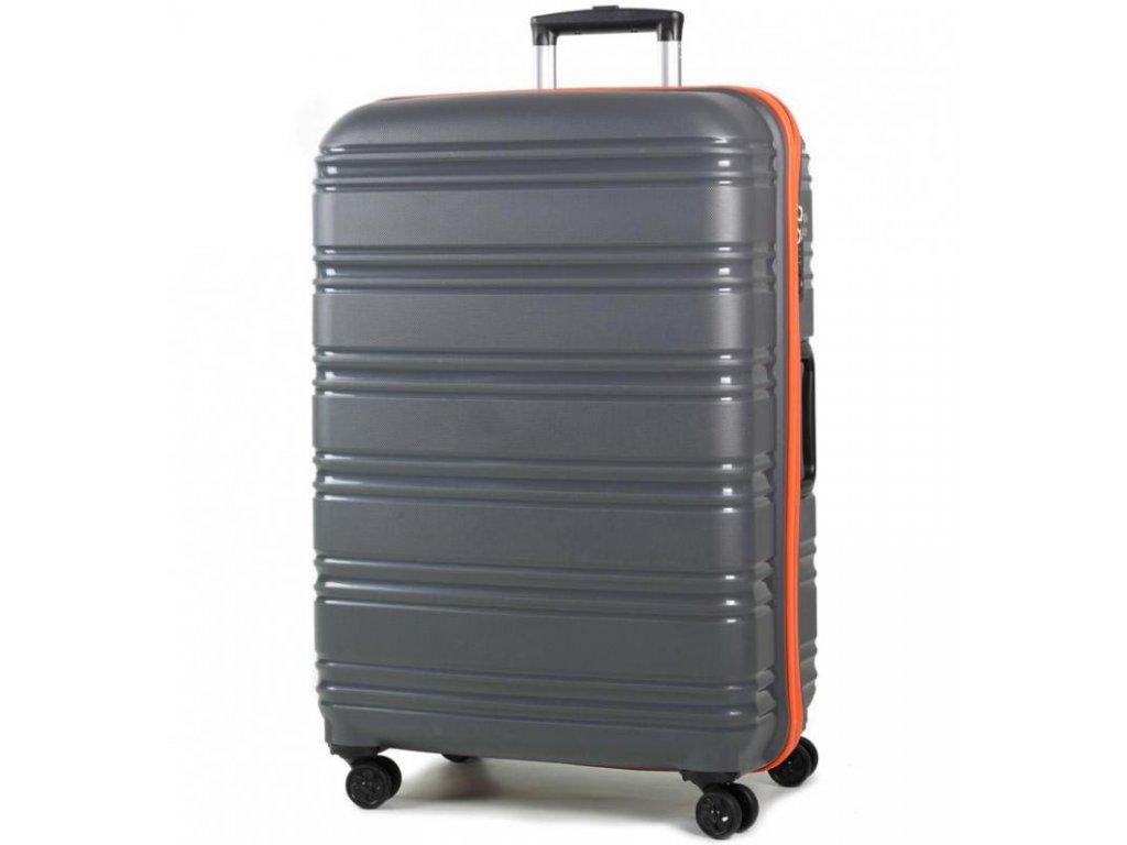 Cestovní kufr ROCK TR-0164/3-L PP - šedá/oranžová