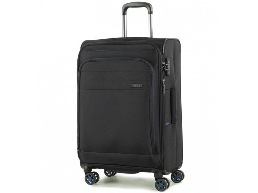 Cestovní kufr ROCK TR-0162/3-M - černá