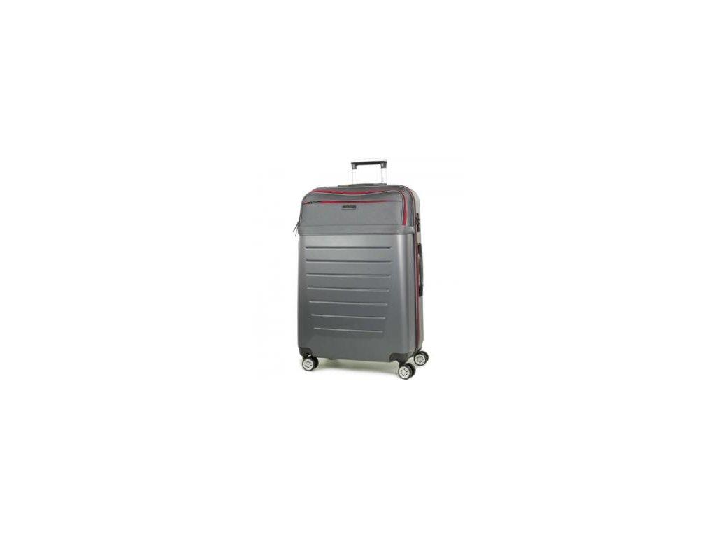 Cestovní kufr ROCK TR-0166/3-L ABS/PES - charcoal
