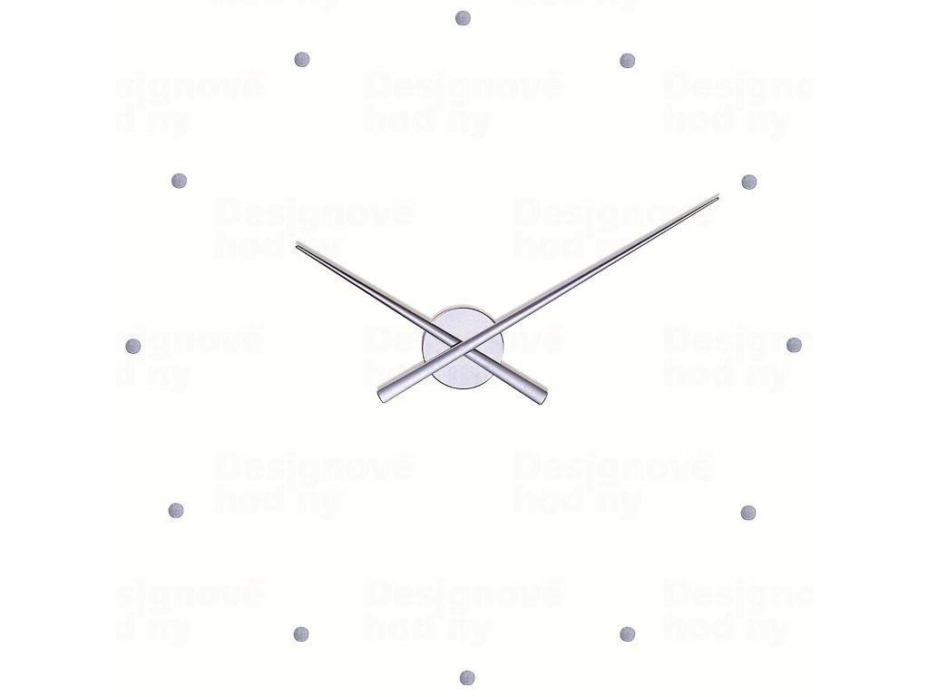 Designové nástěnné hodiny NOMON OJ stříbrné 80cm