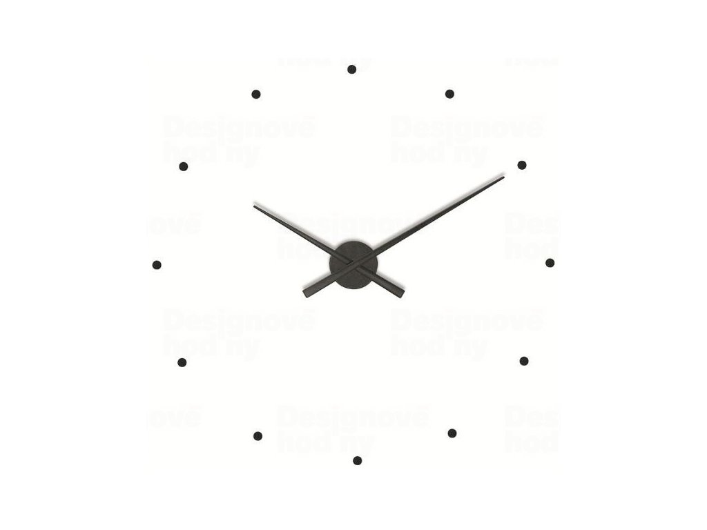 Designové nástěnné hodiny NOMON OJ černé 50cm