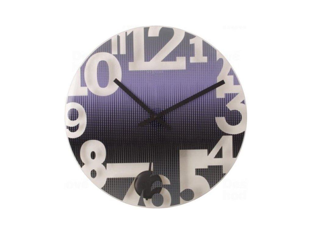 Designové nástěnné hodiny 8127pa Nextime Swing 43cm
