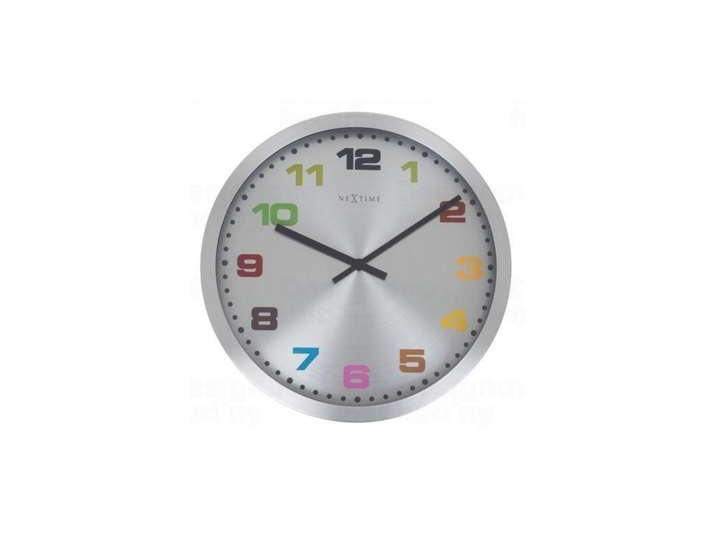 Designové nástěnné hodiny 2907kl Nextime Mercure color 45cm