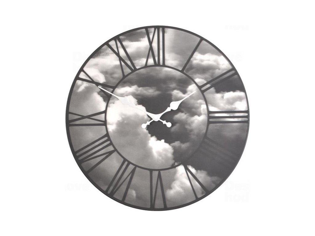 Designové nástěnné hodiny 3037 Nextime Clouds 39cm