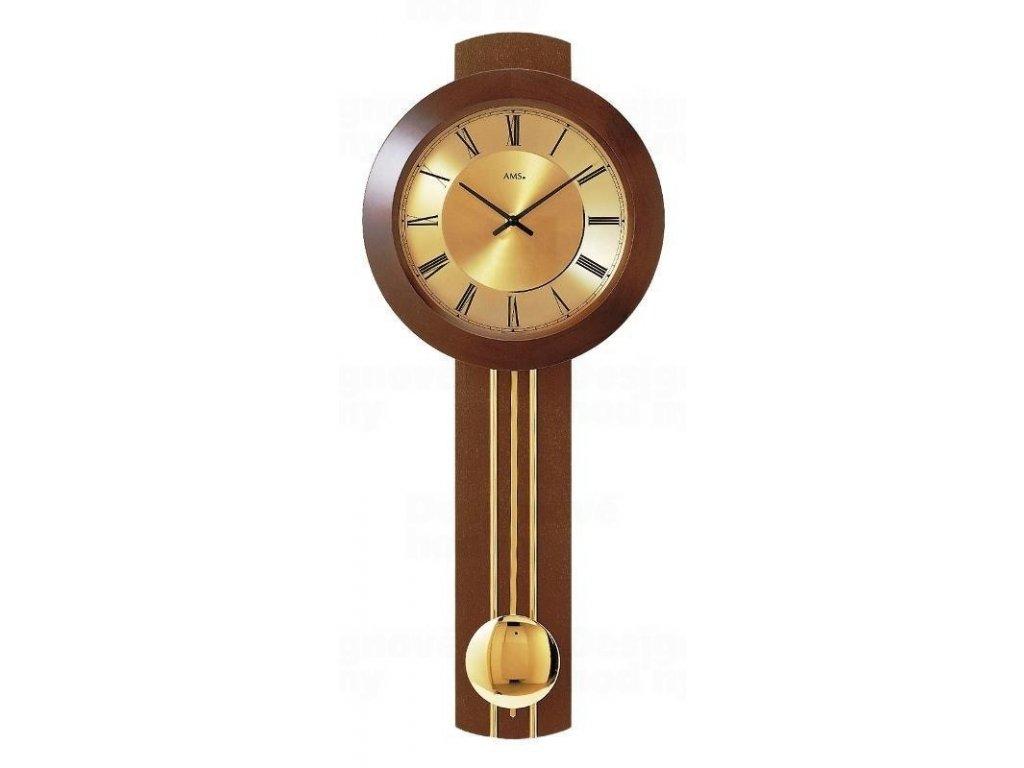 Kyvadlové nástěnné hodiny 5132/1 AMS řízené rádiovým signálem 60cm