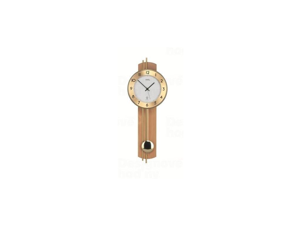 Kyvadlové nástěnné hodiny 5266/18 AMS řízené rádiovým signálem 62cm