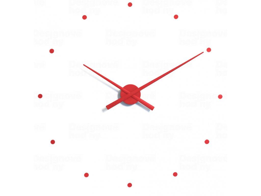 Designové nástěnné hodiny NOMON OJ červené 80cm
