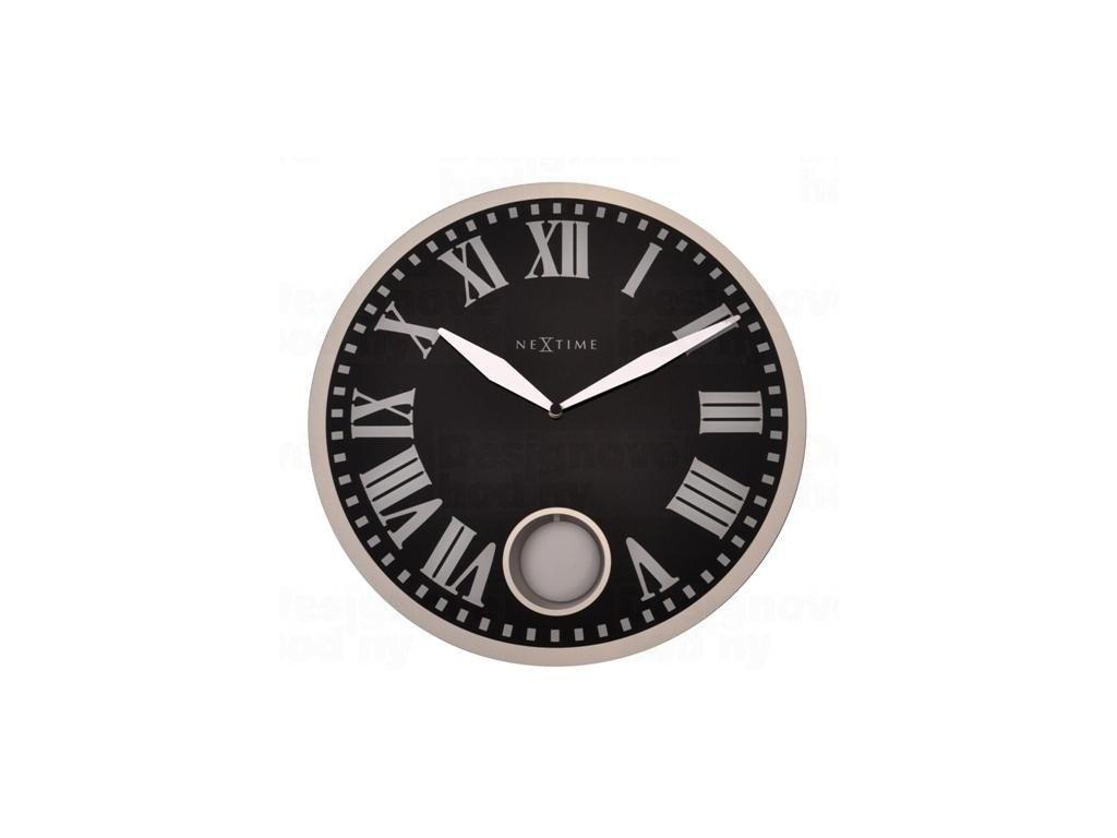 Designové nástěnné kyvadlové hodiny 8161 Nextime Romana 43cm